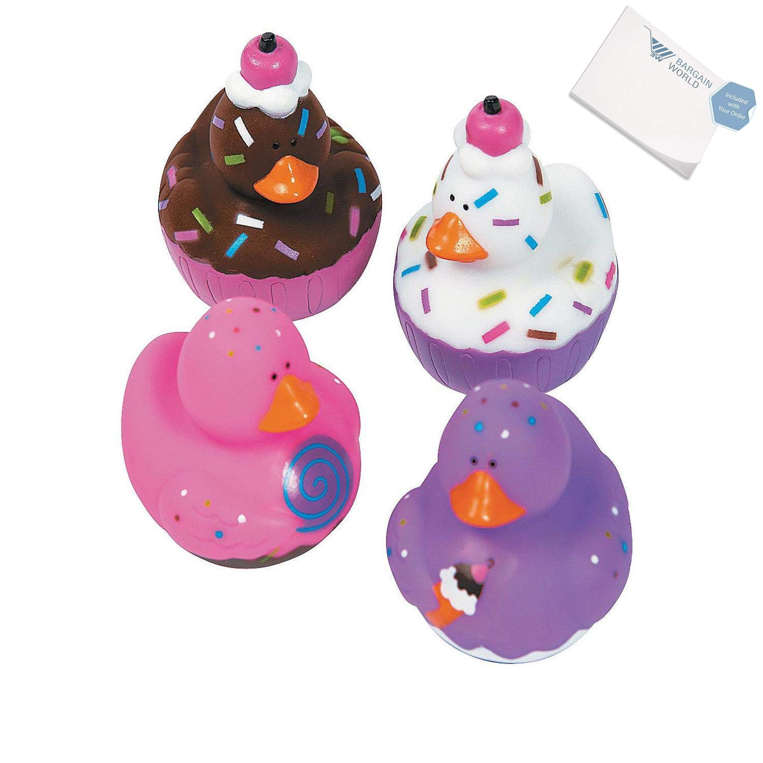 Bargain World Vinyl Sweet Treats Rubber Duckies (With Sticky Notes)