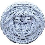 Pelote de fil acrylique épais et doux Bodhi2000®, pour couture à la main et crochet, 100g, gris clair, 100 g