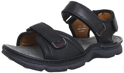 f760083d9f2bae Clarks 20353195, Sandales Homme - Noir (Black Leather), 39.5 EU