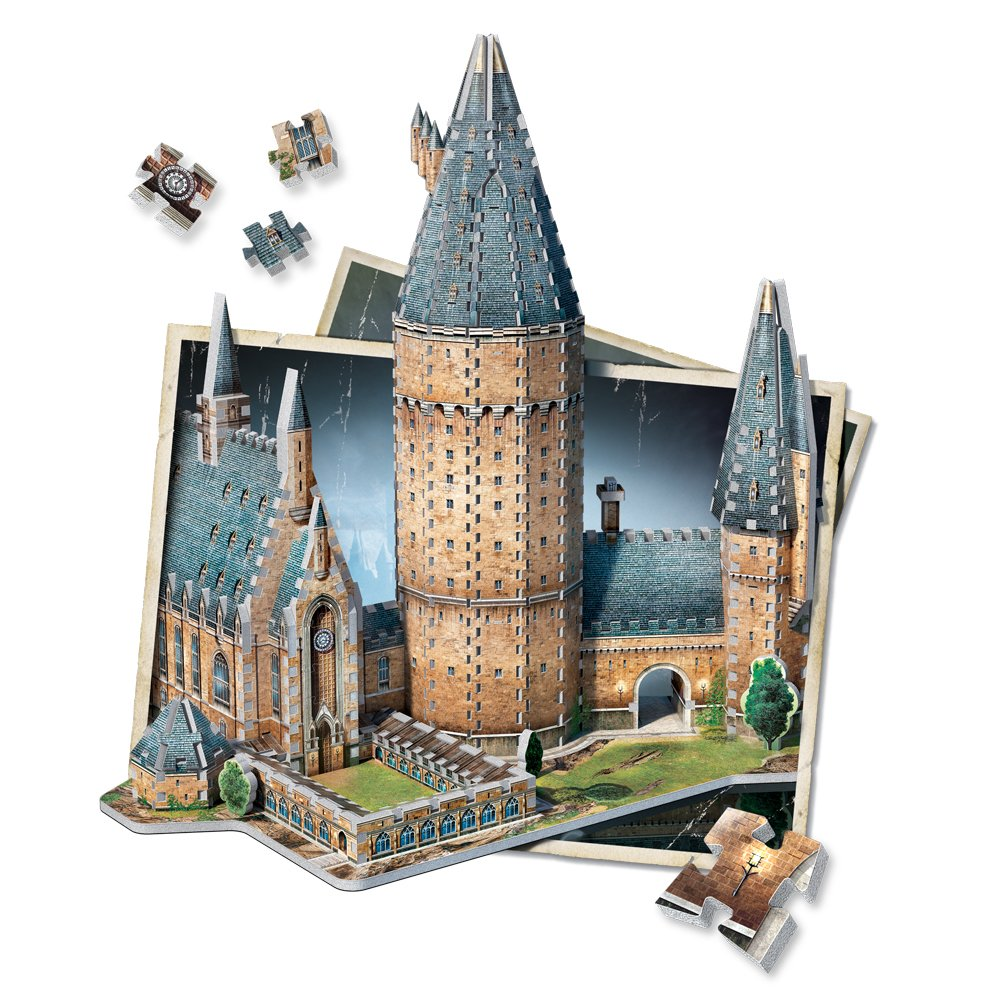Amazon WREBBIT 3D Hogwarts Great Hall Puzzle 850 Piece Toys Games