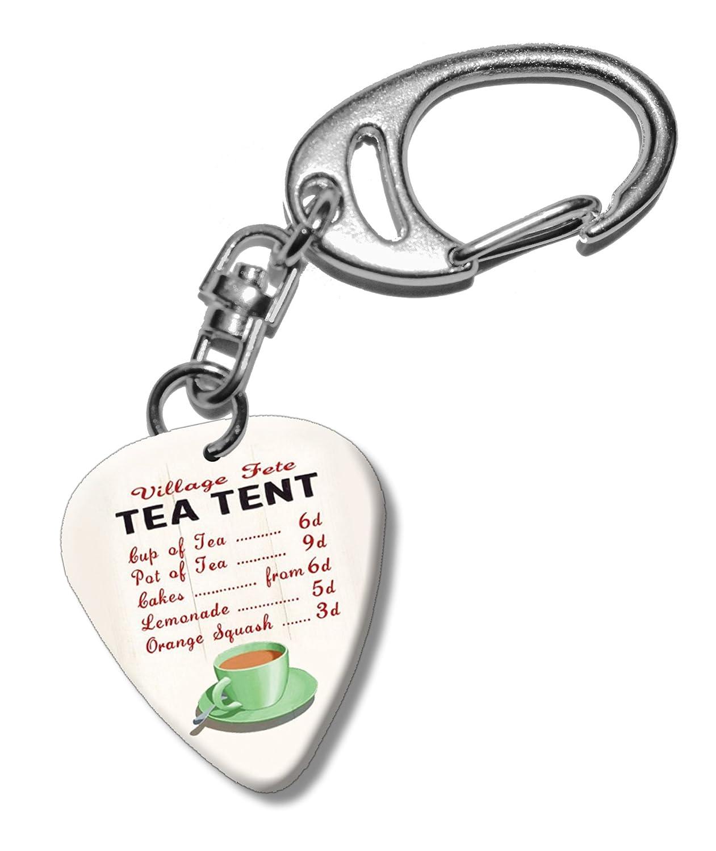Tea Tent Fete Menu Martin Wiscombe Púa Para Guitarra Llavero ...