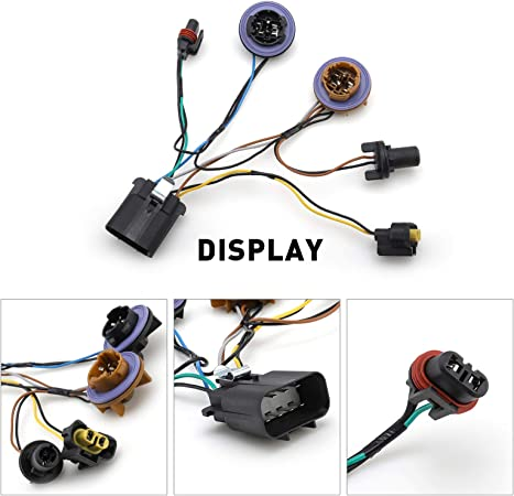 Headlight Socket Wiring Harness For 2007-2014 Chevy Tahoe Suburban Avalanche GM SUV Right /& Left Set Replace 15950809