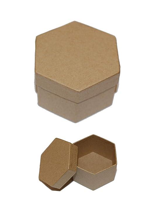 Casa Ydeal Store Cajas de Cartón Muy Resistente (Pack de 6) (Hexagonal, 6,5cm x 7,5cm x 4,5cm): Amazon.es: Hogar