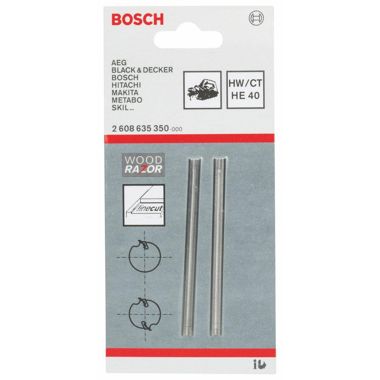 Alluminio 82 mm 850 W 14000 giri//minuto 2608635376 Lama per Pialletto in Metallo Duro Bosch Professional GHO 40-82 C Pialletto 3.2 kg Blu