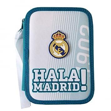 Real Madrid - Estuche escolar doble con accesorios texturas ...
