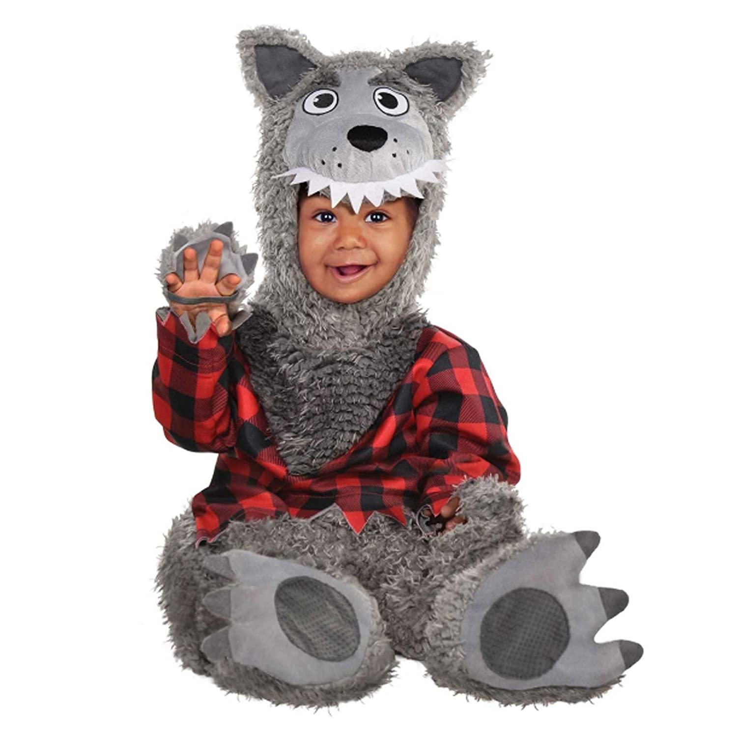 0-6 Months Baby Big Bad Wolf Animal Werewolf Halloween Babies Boys Girl Fancy Dress Costume Fancy Dress VIP