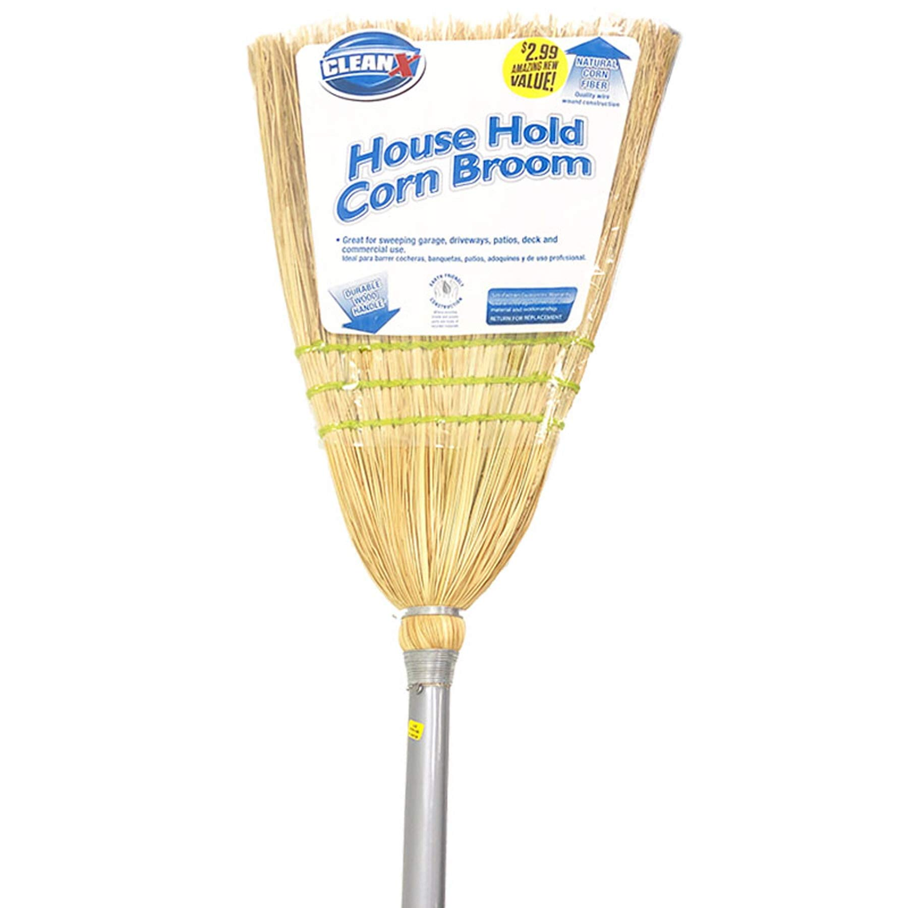 (Pack of 12) Corn Broom 53''