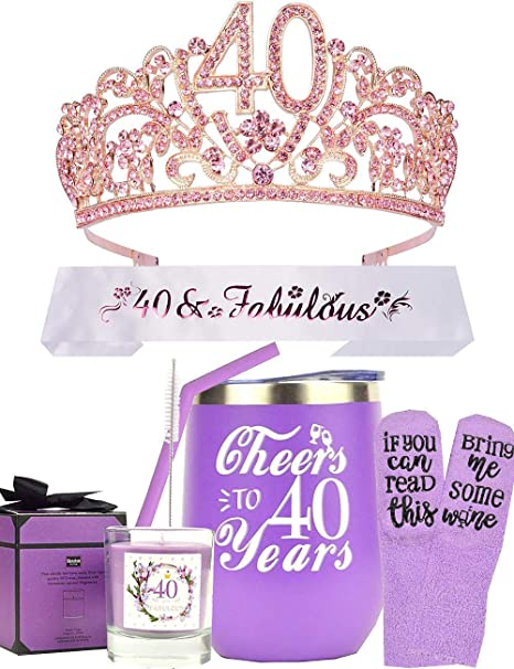 Amazon Com 40th Birthday Gift For Woman 40th Birthday I M 40 Best Turning 40 Year Old Birthday Gift Ideas For Wife Mom Her 40th Birthday Gifts For Lady Happy 40th Birthday Party Supplies