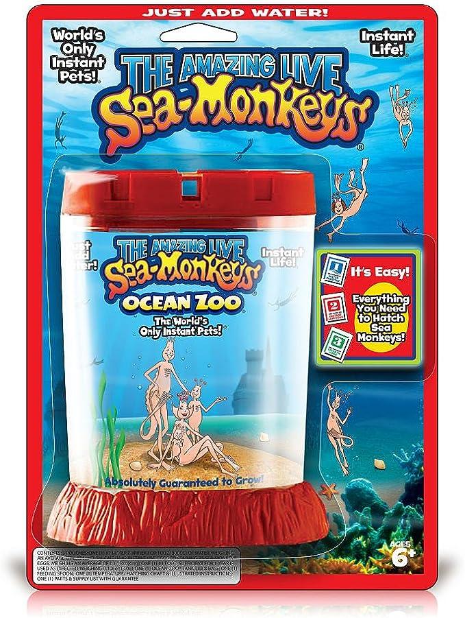 Aquarium Marine Sea Monkeys Live Ocean Monkey Tank Toy Aquarium Habitat New G9U6