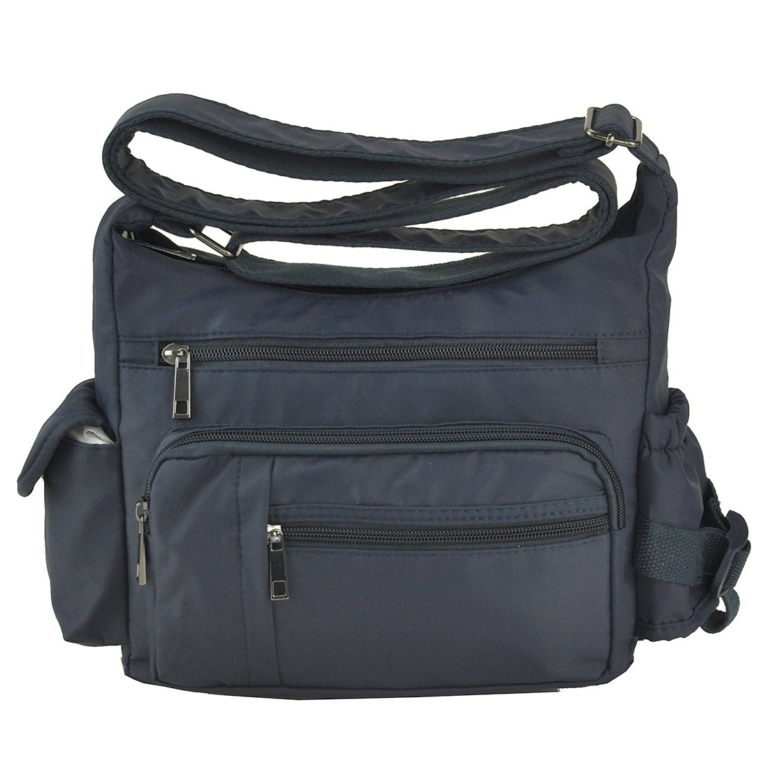 Volcanic Rock Shoulder Bags Messenger Handbags Multi Pocket Waterproof Crossbody Bags(6068-Blue) by Volcanic Rock