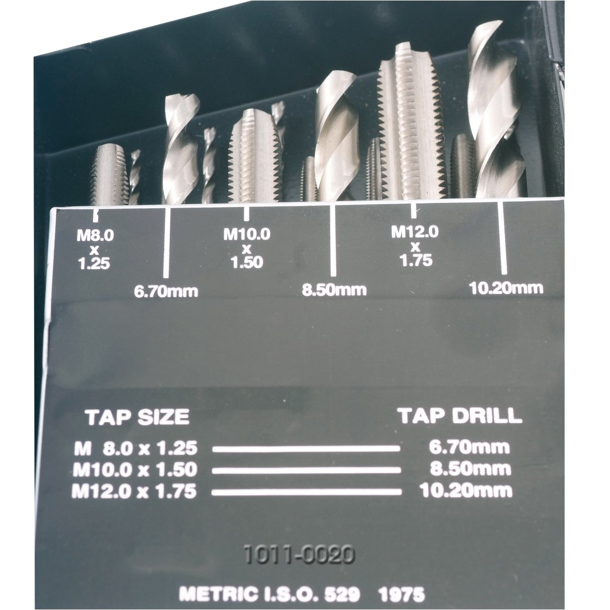 18 PIECE HIGH SPEED STEEL M2.5-M12 TAP /& DRILL COMBO SET 1011-0020