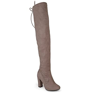 47205d8ffd7 Journee Collection Womens Regular and Wide-Calf Faux Suede Over-The-Knee  Boots