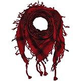 Freak Scene® Foulard palestinien/keffieh classique en coton - bicolore - 100 x 100 cm - Large palette de couleurs!