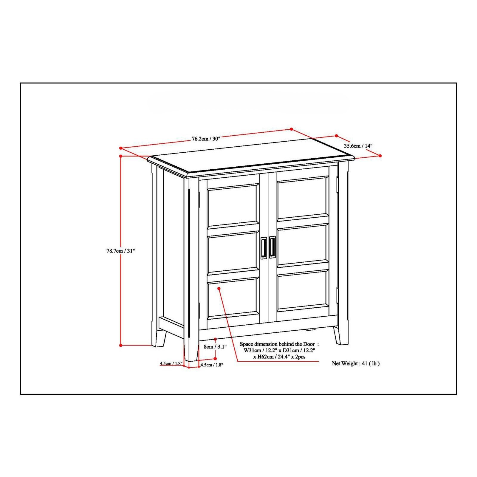 Bookshelves/ Storage Cabinet Traditional, Transitional Portland Espresso (3AXCBUR-005) with 2 Panel Doors and 2 Adjustable Shelves. 31 in High x 30 in Wide x 14 in Deep - Assembly Required