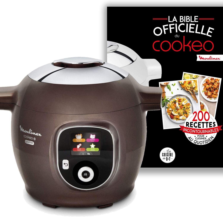 Moule /à G/âteaux Inclus CE852900 Gourmet 6L 150 Recettes pr/éprogramm/ées Moulinex Multicuiseur Intelligent Cookeo Marron glac/é La bible officielle du cookeo