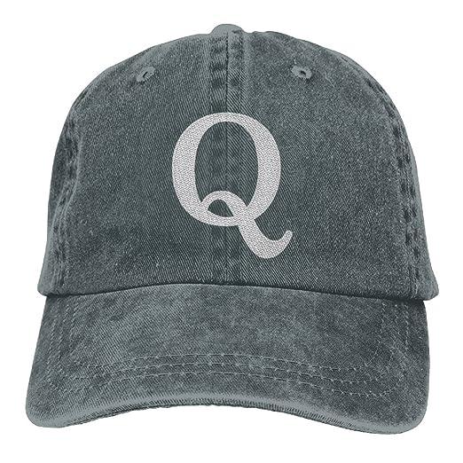 46f49b8bd0f48 Amazon.com  Q Anon Embroidered Low Profile Plain Baseball Cap Dad ...