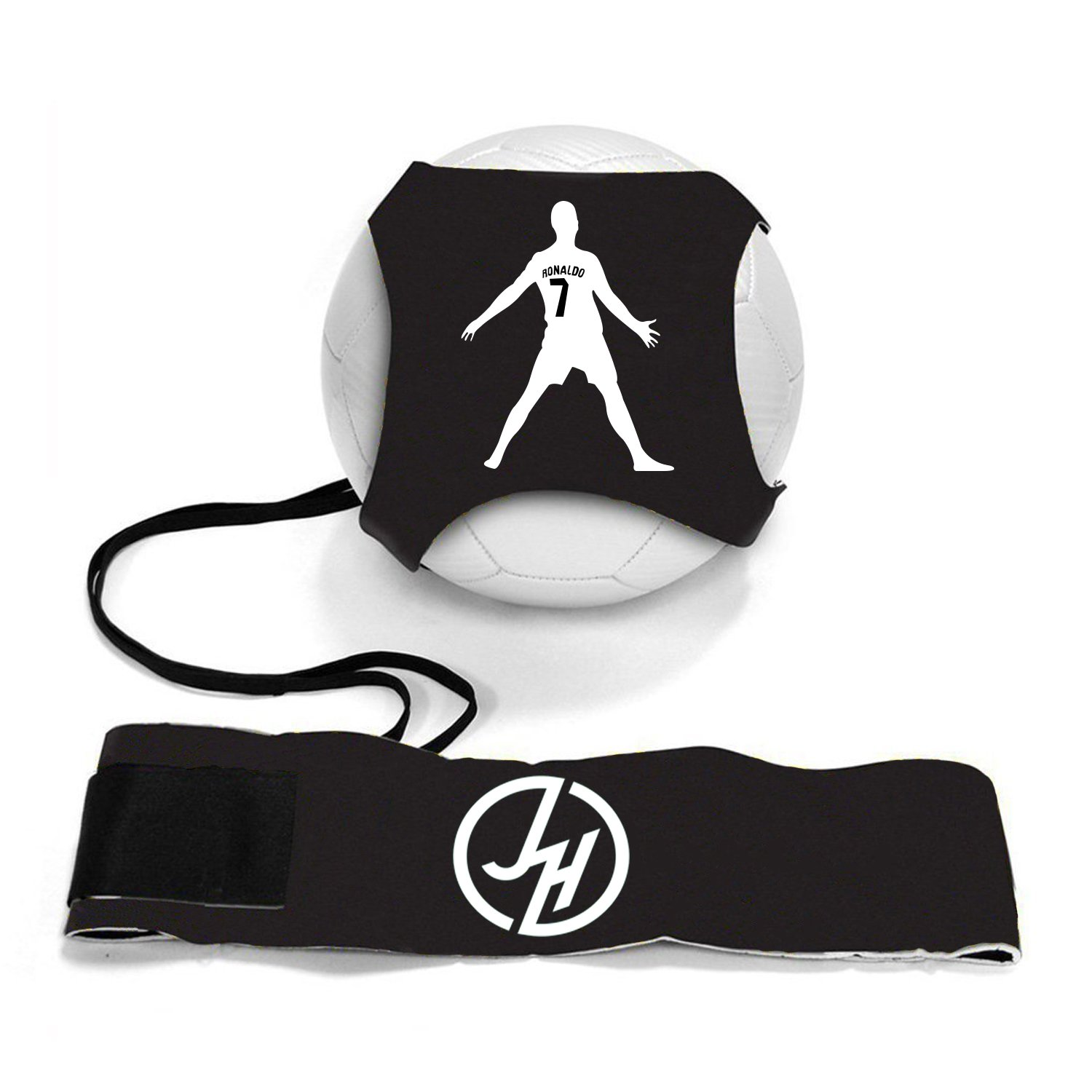 iSport Gifts Ronaldo #7 StarKick Solo Soccer Trainer Aid ✓ Adjustable Soccer Training Belt Rebounder ✓ Fits Soccer Ball Size 3, 4 & 5BALL NOT Included