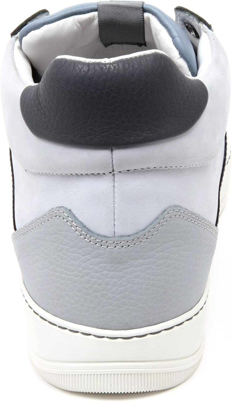 C2850 Sneaker Alta Uomo Lanvin GLOL Scarpa Azzurro/Grigio Mid Top Shoe Man Azzurro Grigio