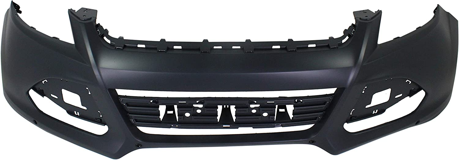 Front Bumper Cover Compatible with 2013-2016 Ford Escape Upper Primed with Active Park Assist Sensor Holes SEL//Titanium Models
