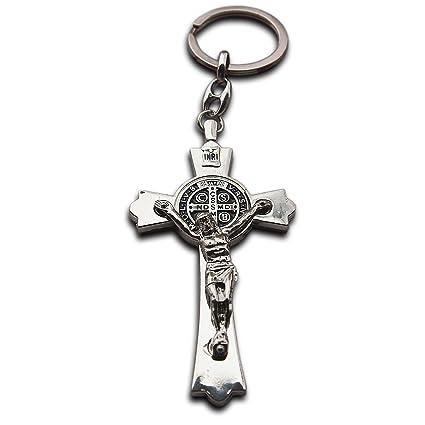 Jesús Cristo Crucifijo Llavero grande Cruz Santa Llavero ...