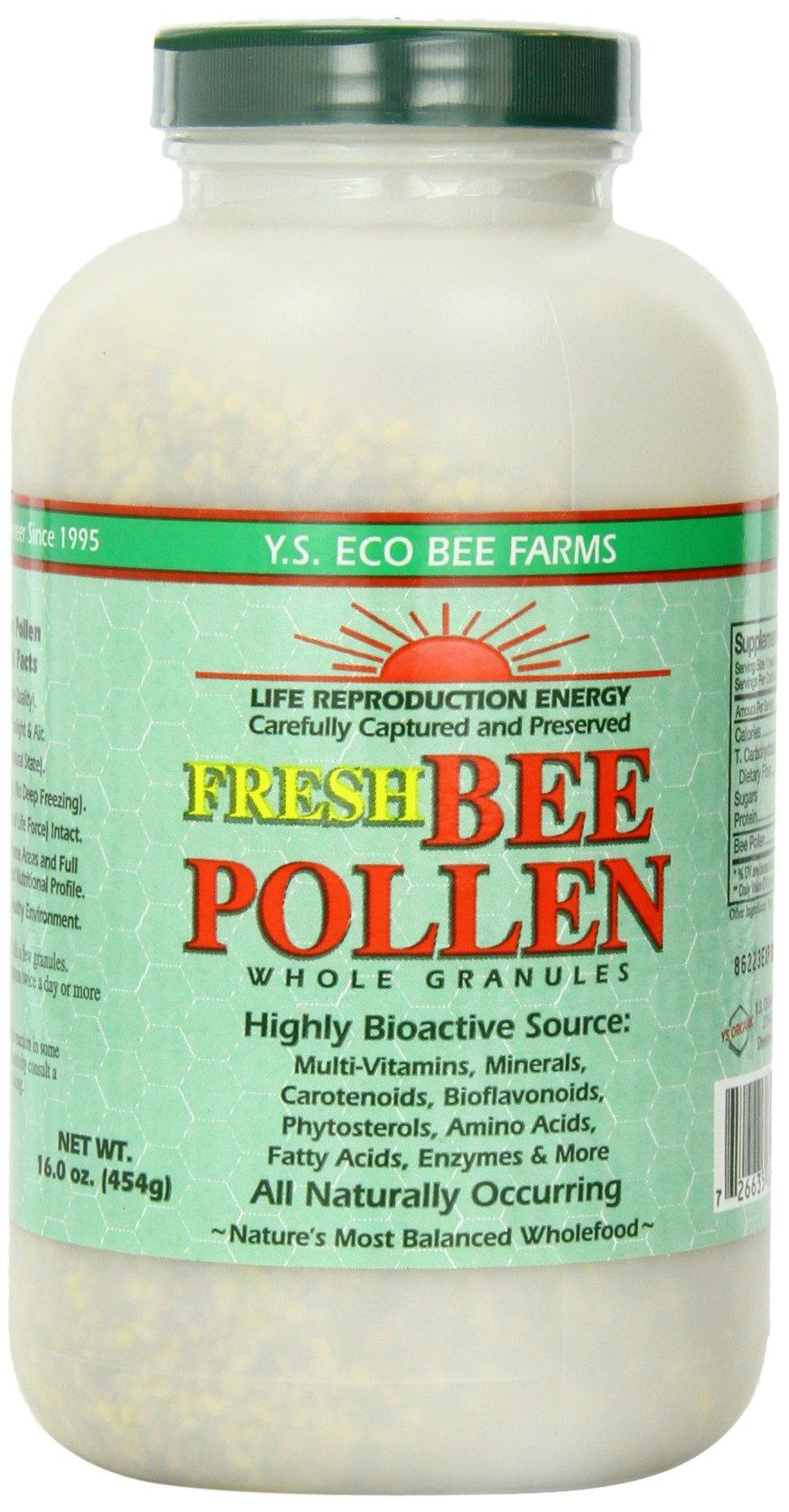 Fresh Bee Pollen Whole Granules - 16 oz. - Granules by Y.S. Organic Bee Farms