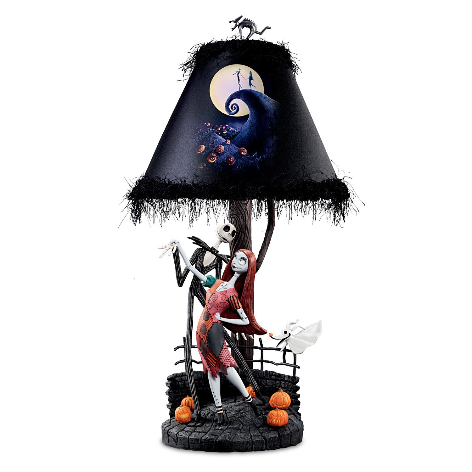 Tim Burton's The Nightmare Before Christmas Moonlight Table Lamp With Jack, Sally And Zero by The Bradford Exchange by Bradford Exchange