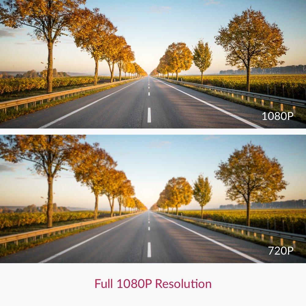 "YI Compact Dash Cam, 1080p Full HD Car Dashboard Camera with 2.7"" LCD Screen, 130° WDR Lens, G-Sensor, Night Vision, Loop Recording - Black by YI (Image #6)"