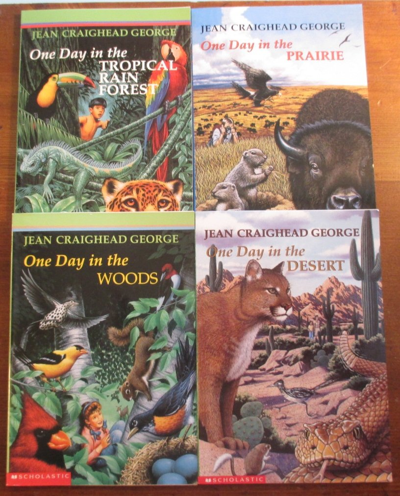 Jean Craighead George Set - One Day in the Woods, One Day in the Prairie, One  Day in the Alpine Tundra, One Day in the Tropical Rain Forest: Amazon.com:  ...