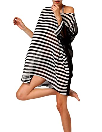 29cb8c2010 Minetom Femme Tunique-Pareo plage Sexy V-orné Dentelle Eté Noir Blanc One  Size: Amazon.fr: Vêtements et accessoires