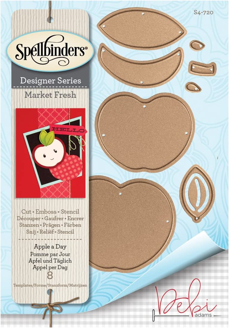 Spellbinders Stamp /& Die Set Market Fresh Peas and Carrots 7 Templates 2 Stamps