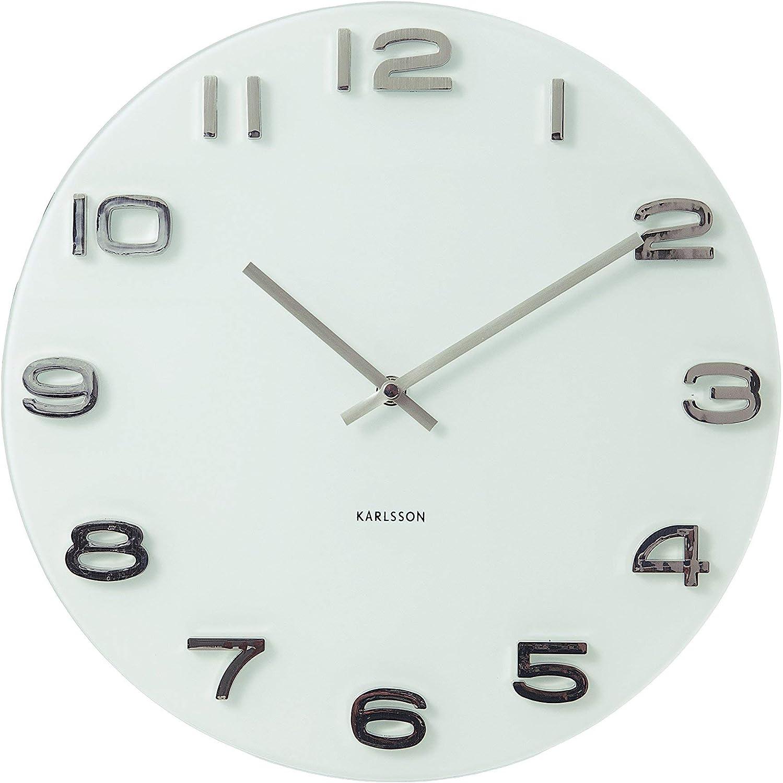 Karlsson Vintage - Reloj de pared, color blanco