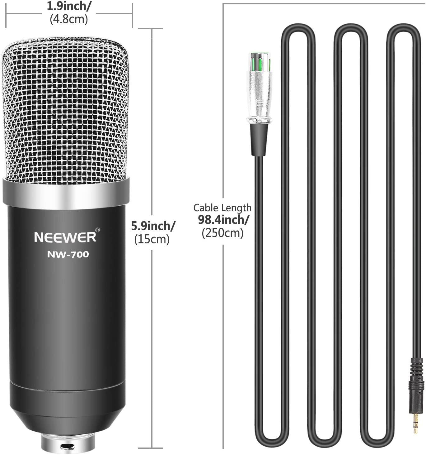 Amazon.com: Neewer - Micrófono USB para Windows y Mac con ...