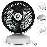 KLIM Breeze - Ventilateur de Bureau USB Haute Performance - Ventilo de table - Silencieux et ajustable - Blanc