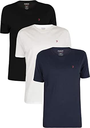 Farah Vintage Hombre Pack de 3 Camisetas de Ropa, Azul, S: Amazon ...