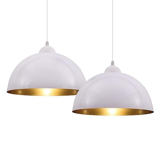 2 Lámparas Colgantes I Lámparas de Suspensión LED de Diseño Vintage ...