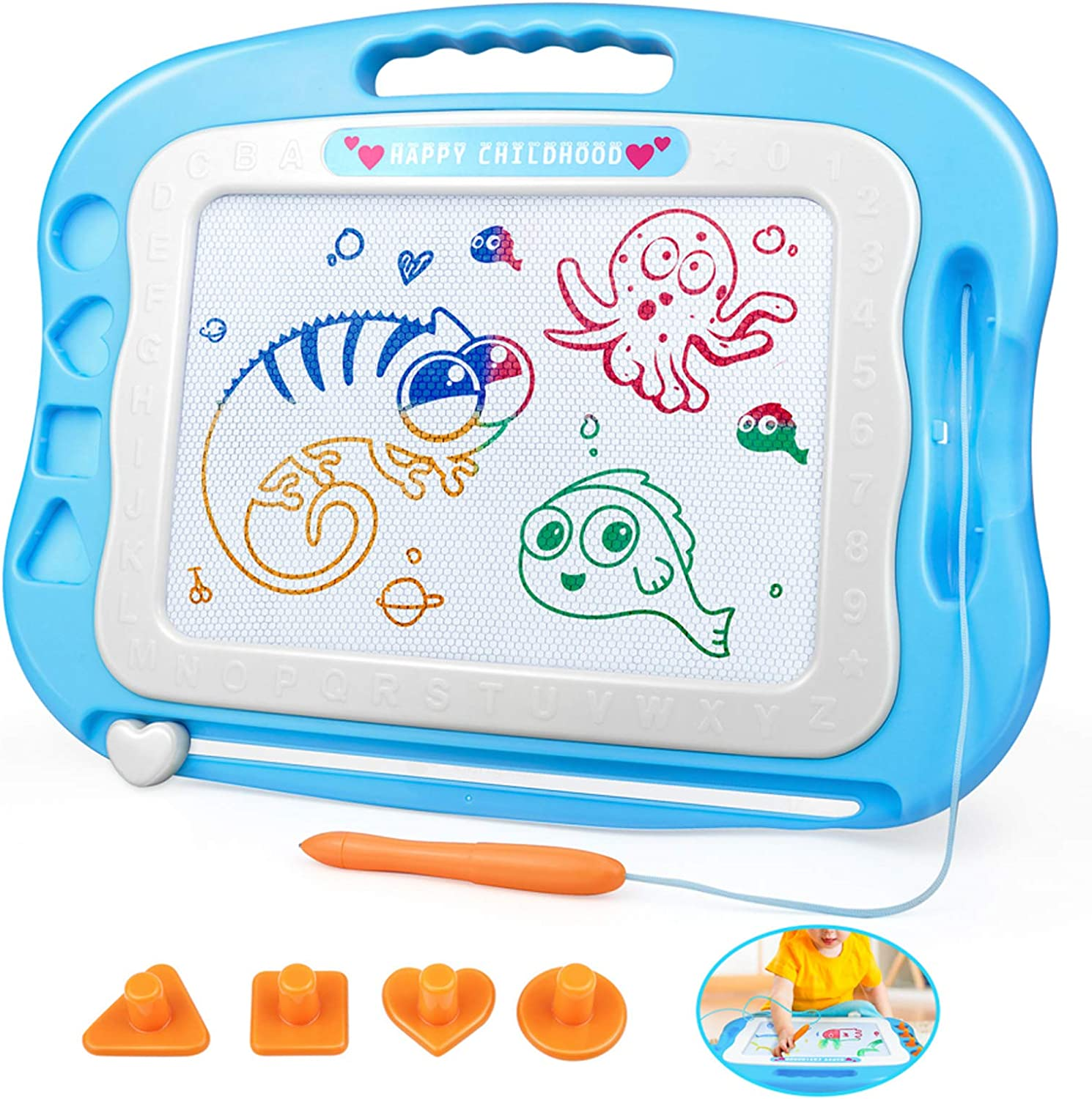 Pen Xmas Gift XDU Educational Kids Doodle Toys Erasable Magnetic Drawing Board
