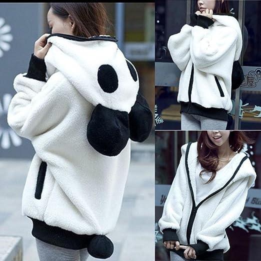 Abrigo con capucha para niñas Mujer Linda Oso de oso Panda Invierno Calentar Manga larga Chaqueta Abrigos de mujer LMMVP: Amazon.es: Deportes y aire libre