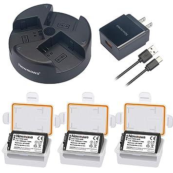 Amazon.com: NP-FW50 Newmowa - Juego de 3 baterías y cargador ...