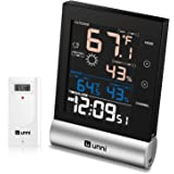 U UNNI Weather Staion Indoor Outdoor Wireless Thermometer Hygrometer, Digital Weather Thermometer Humidity Monitor 328ft Rang