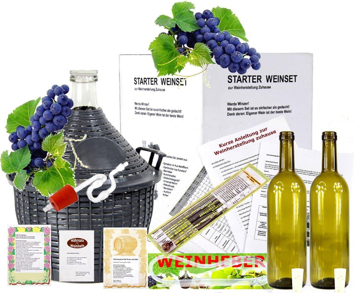 Mach Wein selbst komplettes Weinset 15L Kostenloser Versand neu Starterset