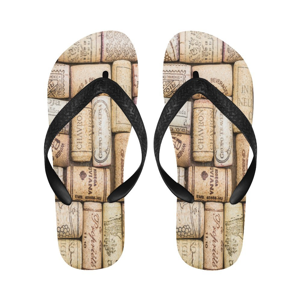 InterestPrint Flip Flop Slippers Wine Corks Close-up Beach Thong Sandal