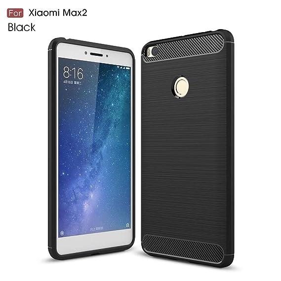 low priced 91ca0 b71d0 Xiaomi Mi Max2 Case,Ultra Light Carbon Fiber Armor ShockProof Brushed  Silicone Grip Case For Xiaomi Mi Max 2 / Mi Max2 ( Color : Black )