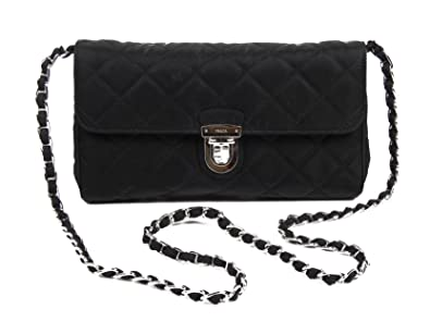 9057efc83400d4 Women Clutch Bag Prada bp0584 impuntu Fabric Black: Amazon.co.uk ...