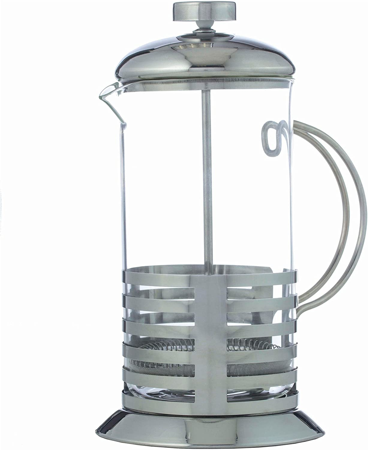 BNF KTFRPRS French Coffee Press Or Tea Maker,Clear Glass Carafe Dishwasher Safe,Heat and Cold Resistant,By Wyndham House,20 Ounce