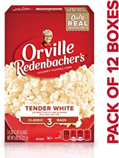 product image for Orville Redenbacher's Tender White Gourmet Microwave Popcorn, Classic Bag, 3-Count (Pack of 12)