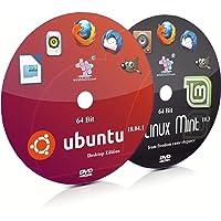Ubuntu 18.04.1 GNOME and Linux Mint 18.3 Cinnamon 64 Bit Live Bootable DVD