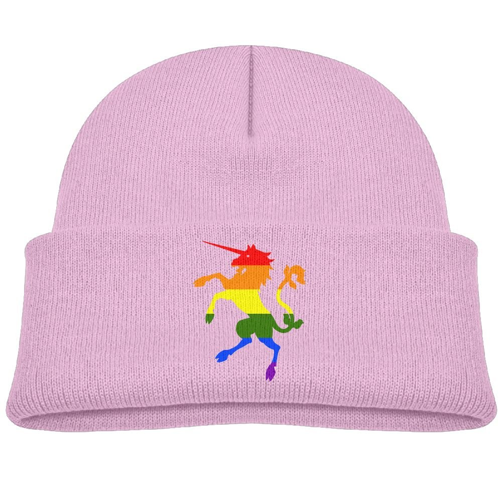 Amazon.com  Knit Hat Rainbow Unicorn Baby Beanie Cap Unisex Baby Warm   Clothing 019c42d43ea