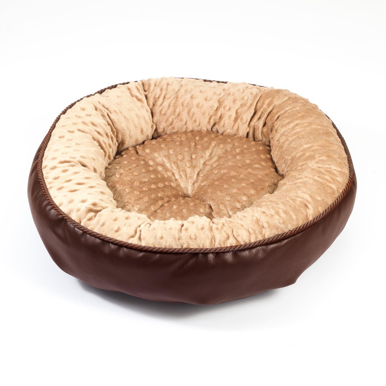 Boutique Zoo - Elegante cama para perros/marrón con beige Minky/cama para perros para pequeñas/medianas/Perros Grandes | sofá, perros - Cojín para perros ...