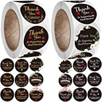 TOYANDONA 2 Rolls Thank You Stickers Roll Thank You for Supporting My Small Business Adhesive Labels Business Labels for…