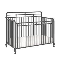 Little Seeds Monarch Hill Hawken 3 in 1 Convertible Metal Crib, Graphite Grey